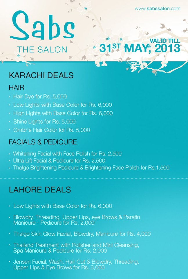 Sabs Salon In Lahore
